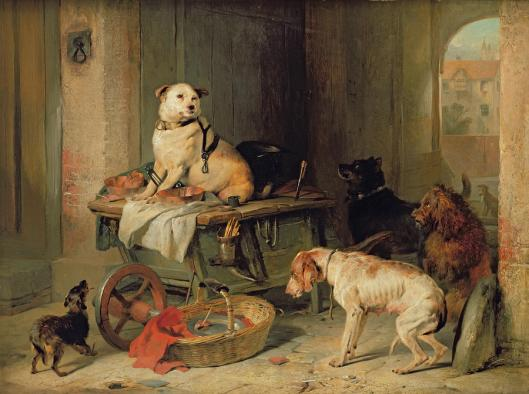 Osaston pomo  - A Jack In The Office. Sir Edwin Henry Landseer, c. 1833.